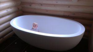 Now that is a big bath!