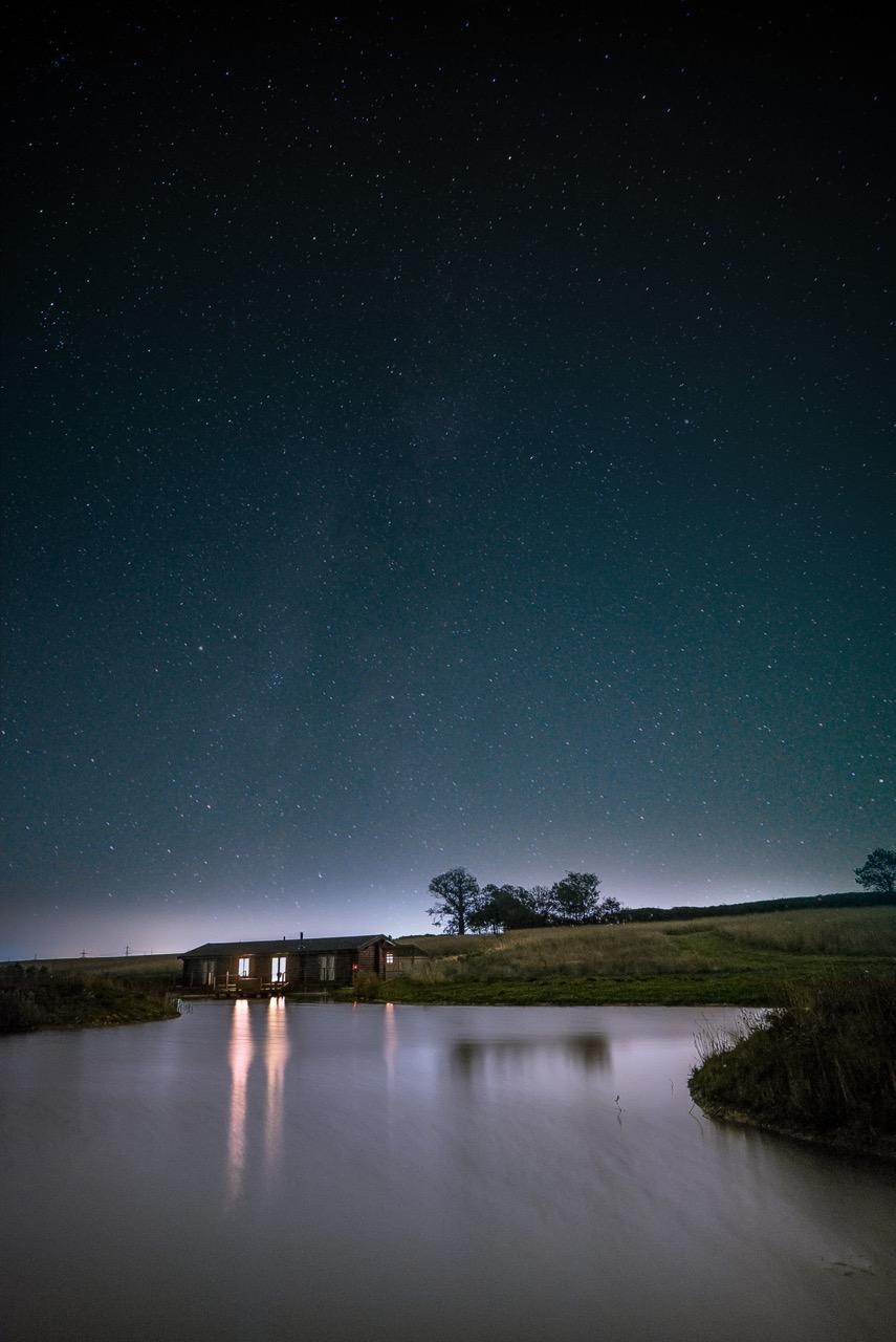 Stars Over The Log Cabin