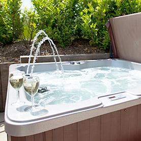 log cabin Hot tub suffolk relax