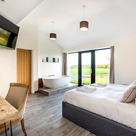 log cabin suffolk master bedroom
