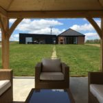 View of the Sheepyard Barn from the outdoor lounge
