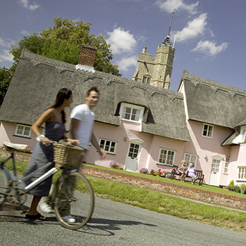 at the suffolk escape cycling villages