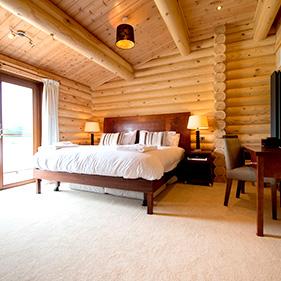 log cabin interior luxury suffolk escape