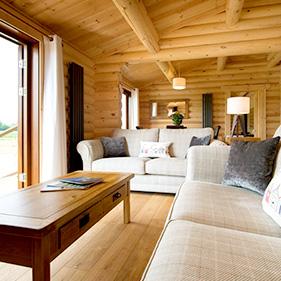 luxury log cabin interior holiday suffolk